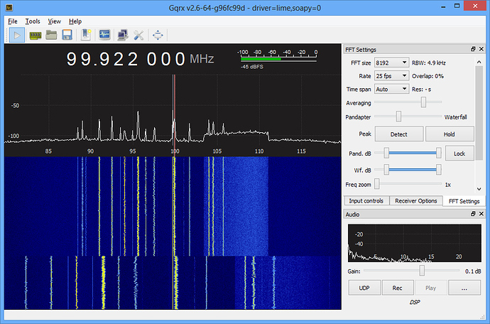 LimeSDR with Gqrx is working! - LimeSDR - Myriad RF Discourse
