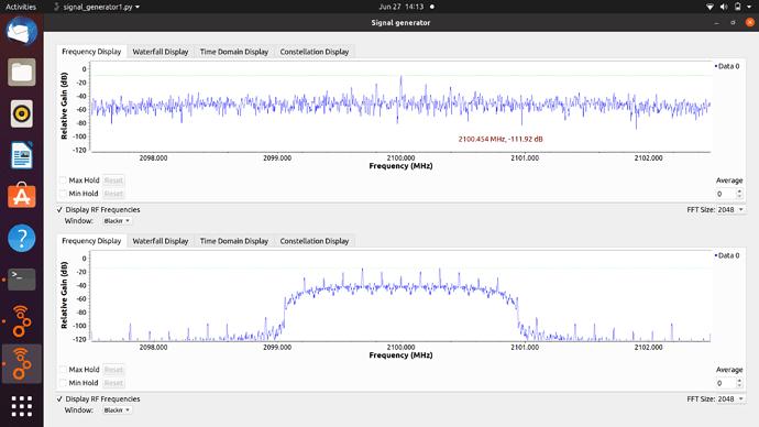 XMT vs RCV Spectrum Screenshot from 2021-06-27 14-13-23