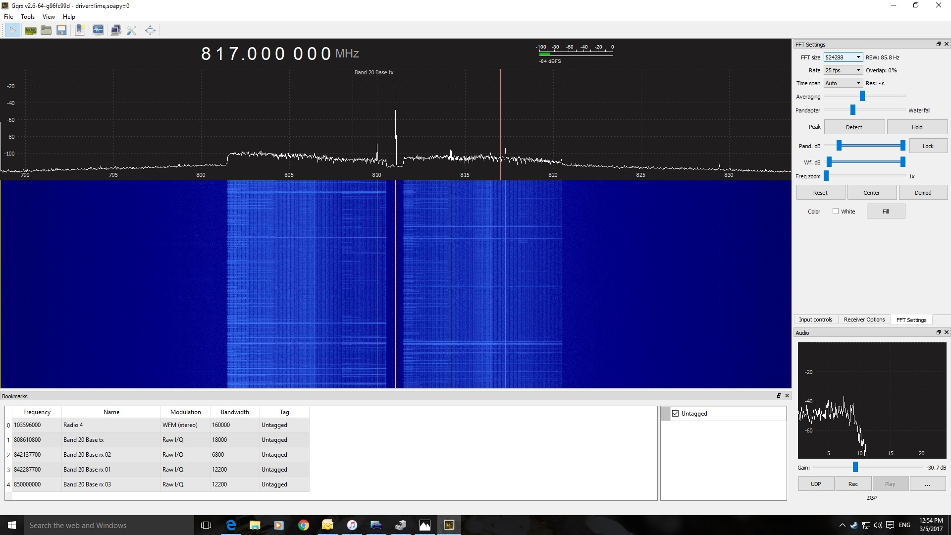Band 20 LTE sniffing - LimeSDR - Myriad RF Discourse