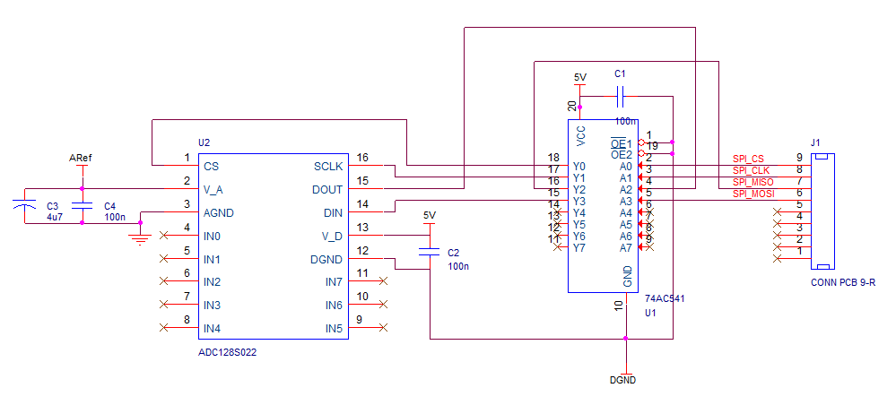 How can I ground the SPI lines when there is no power on the slave