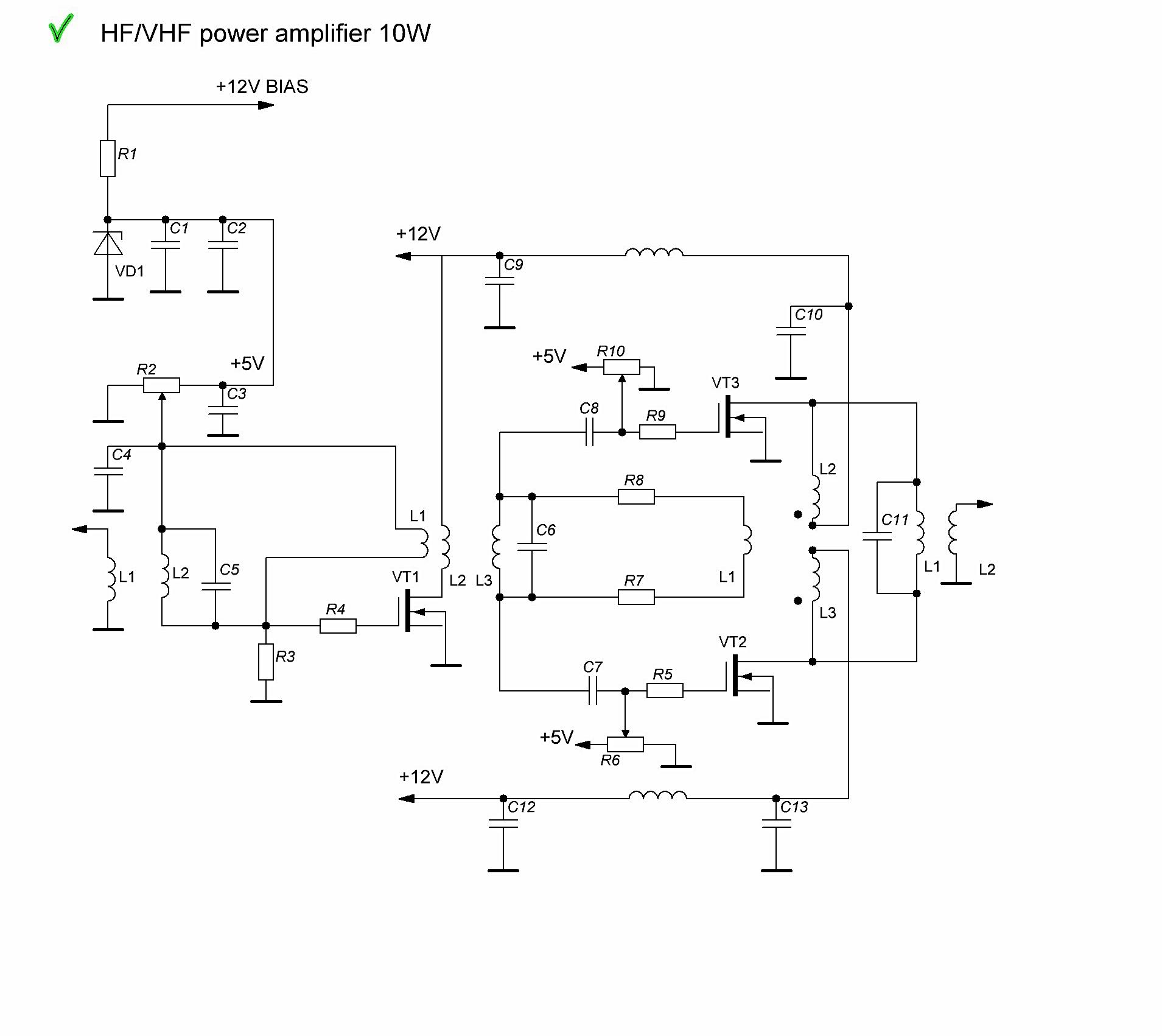 Ham HF 6m QRP PA 10W HF, 5W 2m board and 600W HF 6m version