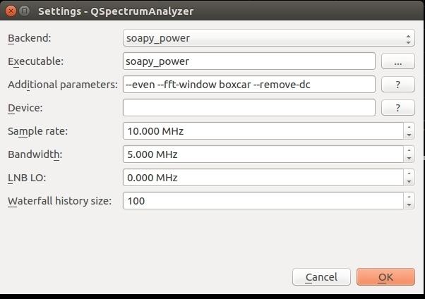 QSpectrumAnalyzer now works with LimeSDR! - LimeSDR - Myriad