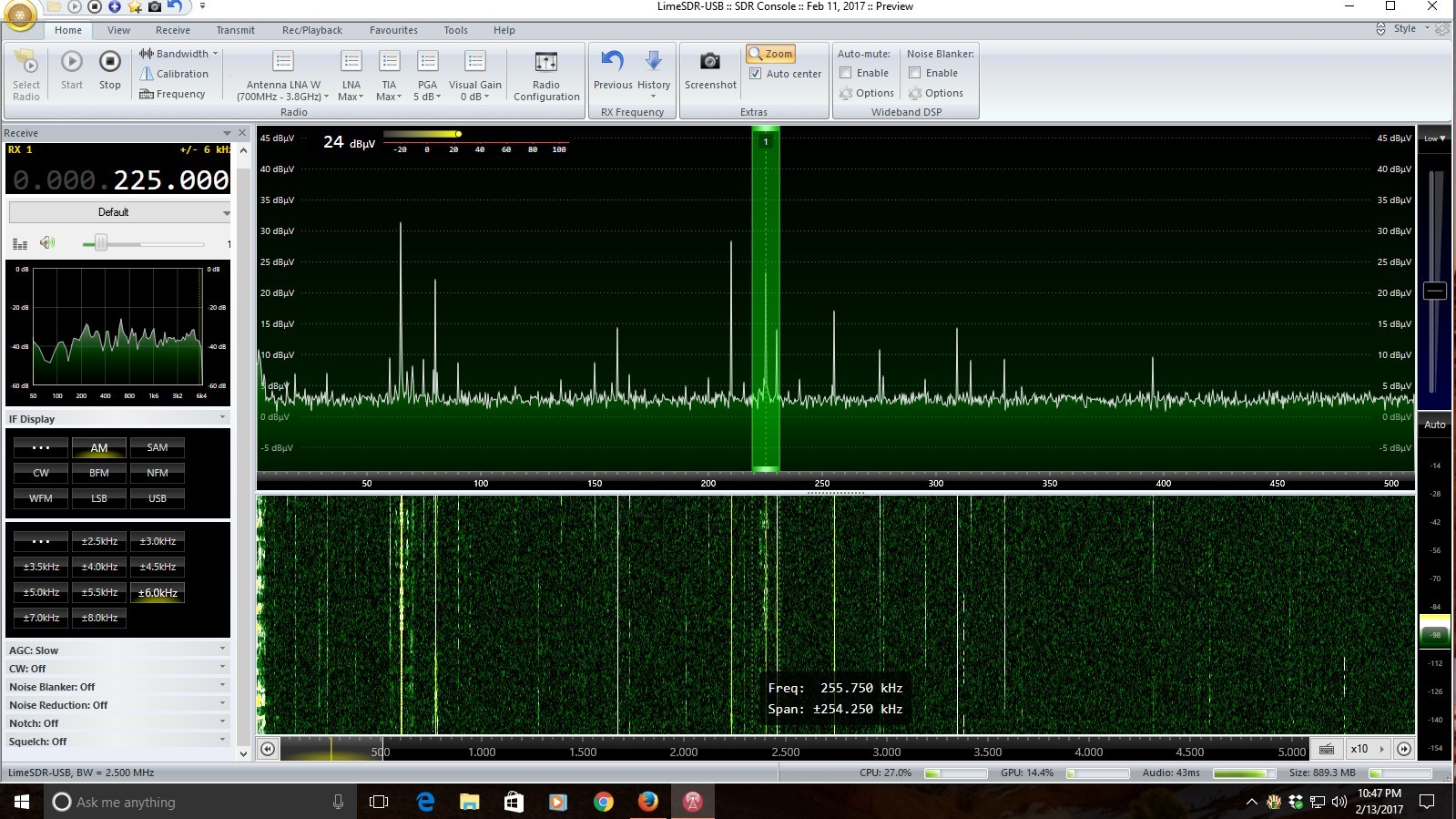 Happy days are here again - LimeSDR lives in HF! - LimeSDR