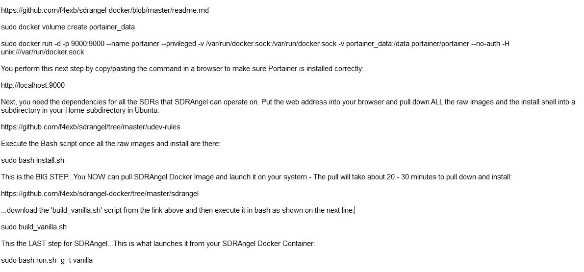 The Definitive Guide on Loading a Docker-ized image of SDRAngel