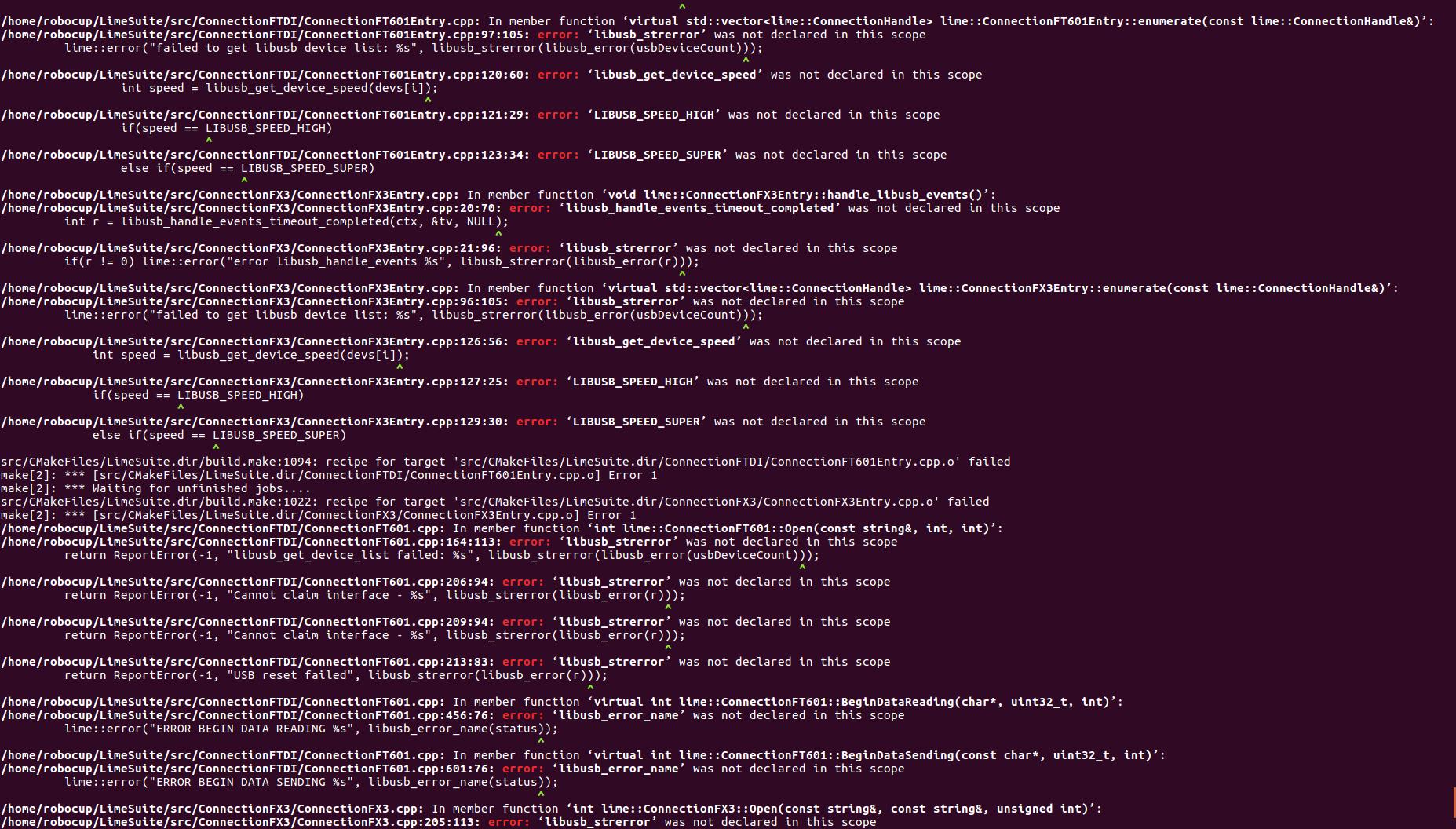 Issues with LimeSDR setup on Ubuntu 16 04 - LimeSDR - Myriad RF