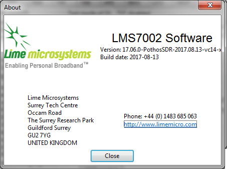 LimeSDR_Software_Version