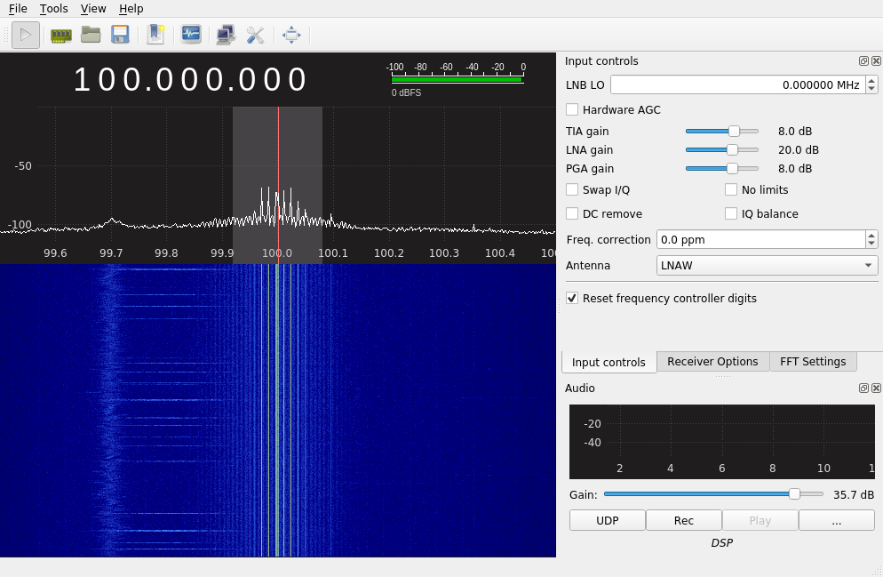 LimeSDR Mini and Spurious signal around 100 MHz - General Discussion