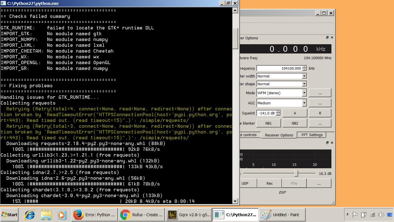 Error: Python 2 7 Inspection Failed - General Discussion - Myriad RF