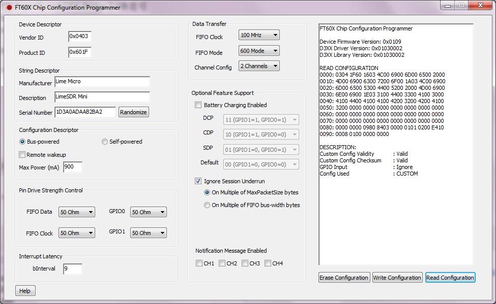 All read/write fail on my LimeSDR mini - LimeSDR - Myriad RF Discourse